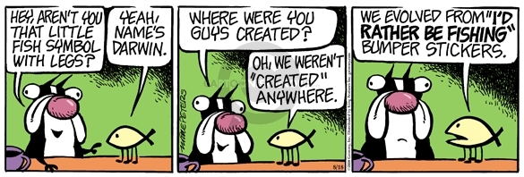 Comic Strip Mike Peters  Mother Goose and Grimm 2008-08-18 evolution