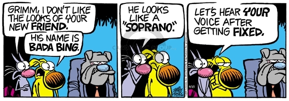 Comic Strip Mike Peters  Mother Goose and Grimm 2008-09-15 get fixed