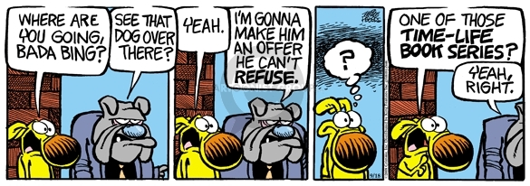 Comic Strip Mike Peters  Mother Goose and Grimm 2008-09-18 crime
