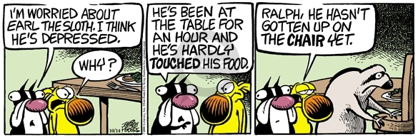 Comic Strip Mike Peters  Mother Goose and Grimm 2008-10-14 sloth