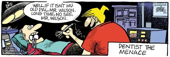 Comic Strip Mike Peters  Mother Goose and Grimm 2004-11-01 pain