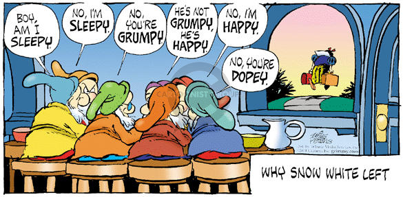 Comic Strip Mike Peters  Mother Goose and Grimm 2001-11-11 discord