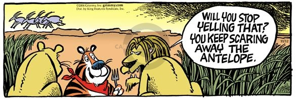 Comic Strip Mike Peters  Mother Goose and Grimm 2004-11-12 lion