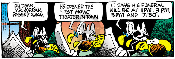 Comic Strip Mike Peters  Mother Goose and Grimm 2001-11-15 movie