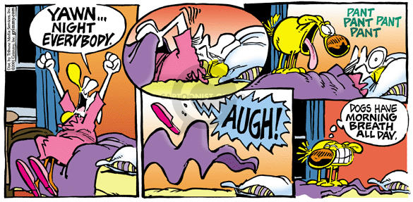 Comic Strip Mike Peters  Mother Goose and Grimm 2001-11-18 unhygienic