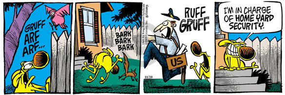 Comic Strip Mike Peters  Mother Goose and Grimm 2003-11-20 Homeland Security
