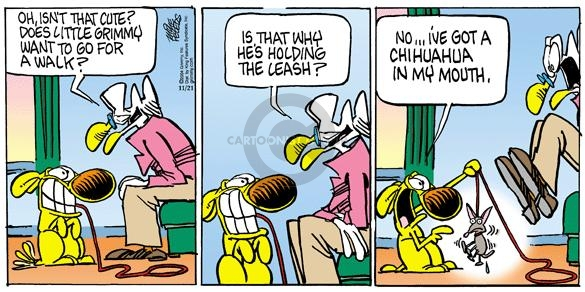 Comic Strip Mike Peters  Mother Goose and Grimm 2004-11-21 leash