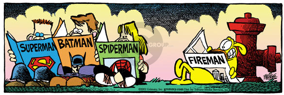 Superman.  Batman.  Spiderman.  Fireman.