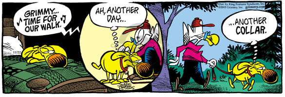 Cartoonist Mike Peters  Mother Goose and Grimm 2003-11-22 compensation