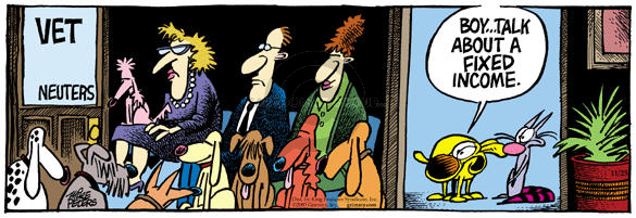 Comic Strip Mike Peters  Mother Goose and Grimm 2003-11-25 spay