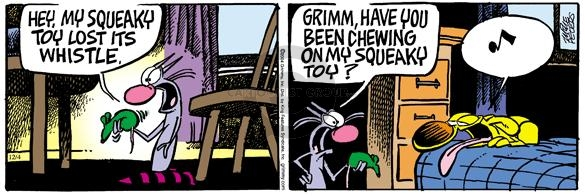 Comic Strip Mike Peters  Mother Goose and Grimm 2004-12-04 squeaky