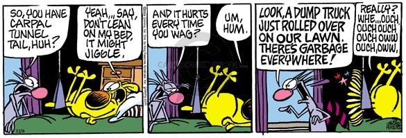 Cartoonist Mike Peters  Mother Goose and Grimm 2004-12-08 taunt