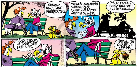 Comic Strip Mike Peters  Mother Goose and Grimm 2003-12-14 broker