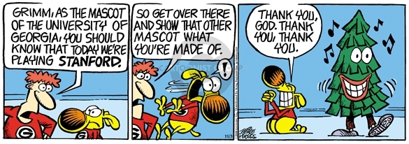 Comic Strip Mike Peters  Mother Goose and Grimm 2008-11-03 tree