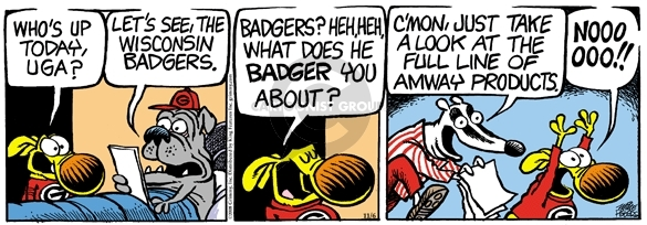 Comic Strip Mike Peters  Mother Goose and Grimm 2008-11-06 heh