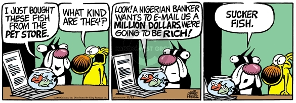 Cartoonist Mike Peters  Mother Goose and Grimm 2008-11-13 deception