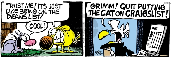Comic Strip Mike Peters  Mother Goose and Grimm 2008-11-24 Dean