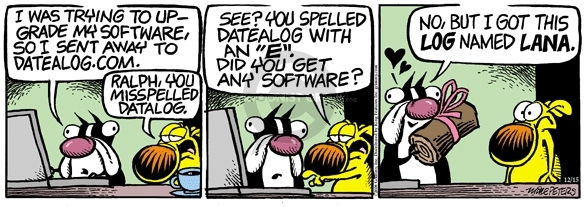 Comic Strip Mike Peters  Mother Goose and Grimm 2008-12-15 URL