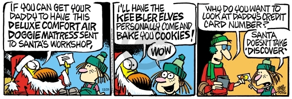 Cartoonist Mike Peters  Mother Goose and Grimm 2008-12-25 bake