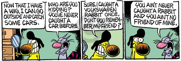 Comic Strip Mike Peters  Mother Goose and Grimm 2009-01-16 rabbit