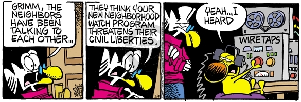 Comic Strip Mike Peters  Mother Goose and Grimm 2009-02-04 civil liberty