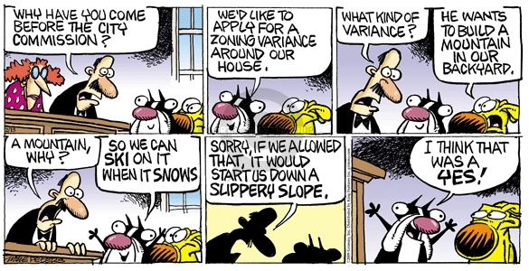 Comic Strip Mike Peters  Mother Goose and Grimm 2009-02-15 slope