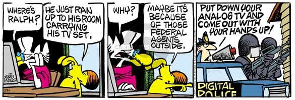 Comic Strip Mike Peters  Mother Goose and Grimm 2009-02-16 switch