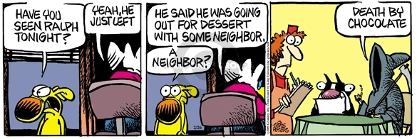 Cartoonist Mike Peters  Mother Goose and Grimm 2009-02-06 neighborhood