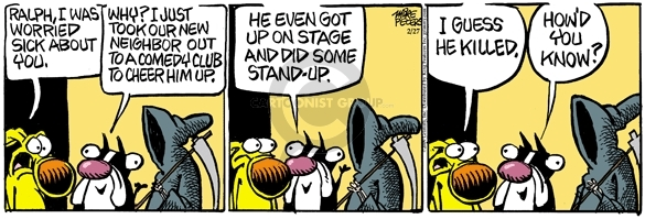 Comic Strip Mike Peters  Mother Goose and Grimm 2009-02-27 routine