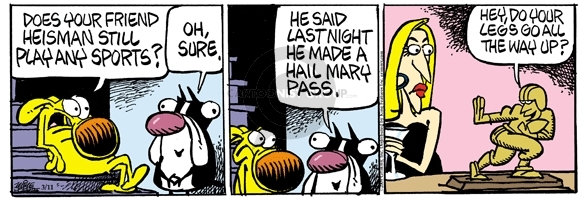Comic Strip Mike Peters  Mother Goose and Grimm 2009-03-11 pickup line