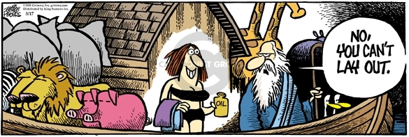 Cartoonist Mike Peters  Mother Goose and Grimm 2009-03-17 story