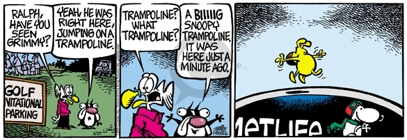 Comic Strip Mike Peters  Mother Goose and Grimm 2009-03-27 sponsor