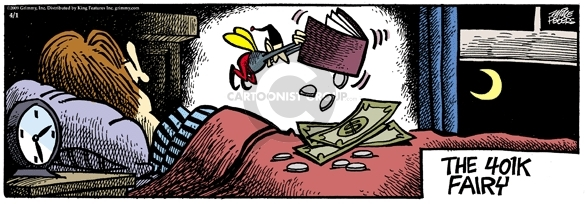 Cartoonist Mike Peters  Mother Goose and Grimm 2009-04-01 financial loss