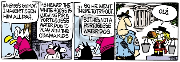 Comic Strip Mike Peters  Mother Goose and Grimm 2009-04-13 house