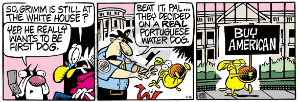Comic Strip Mike Peters  Mother Goose and Grimm 2009-04-16 Portuguese