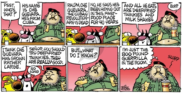 Comic Strip Mike Peters  Mother Goose and Grimm 2009-04-19 fast food