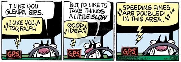 Comic Strip Mike Peters  Mother Goose and Grimm 2009-05-14 traffic