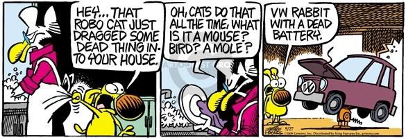 Comic Strip Mike Peters  Mother Goose and Grimm 2009-05-27 cat behavior