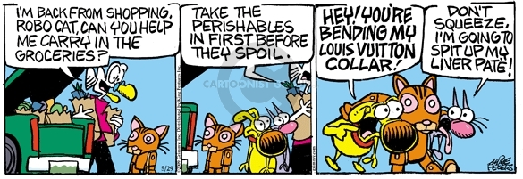 Comic Strip Mike Peters  Mother Goose and Grimm 2009-05-29 grocery shop