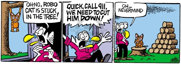 Comic Strip Mike Peters  Mother Goose and Grimm 2009-05-30 robotics