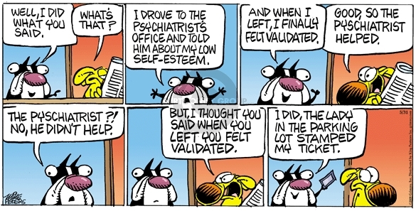Comic Strip Mike Peters  Mother Goose and Grimm 2009-05-31 psychiatry