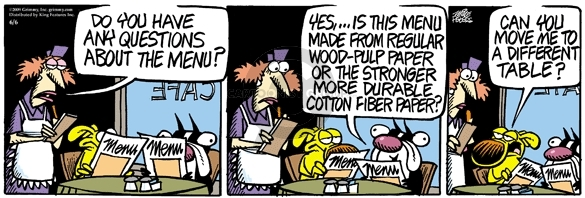 Comic Strip Mike Peters  Mother Goose and Grimm 2009-06-06 different