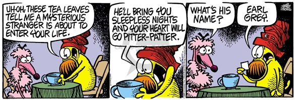 Comic Strip Mike Peters  Mother Goose and Grimm 2009-06-12 tea