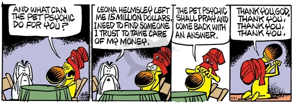 Cartoonist Mike Peters  Mother Goose and Grimm 2009-06-13 financial