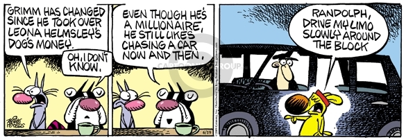 Comic Strip Mike Peters  Mother Goose and Grimm 2009-06-19 rich