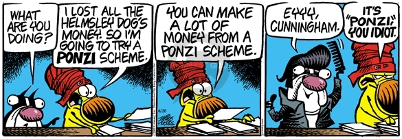 Comic Strip Mike Peters  Mother Goose and Grimm 2009-06-20 financial advisor