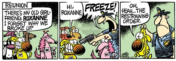 Comic Strip Mike Peters  Mother Goose and Grimm 2009-06-24 restrain