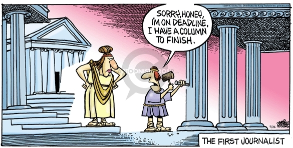 Comic Strip Mike Peters  Mother Goose and Grimm 2009-07-26 ancient Greece