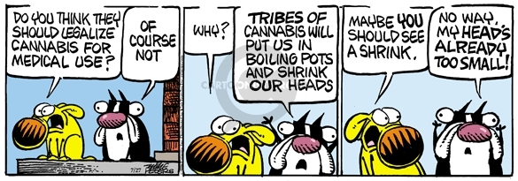 Cartoonist Mike Peters  Mother Goose and Grimm 2009-07-27 legalize marijuana