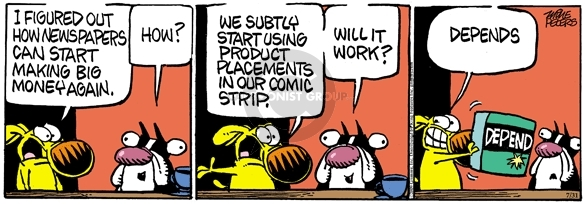 Comic Strip Mike Peters  Mother Goose and Grimm 2009-07-31 product placement